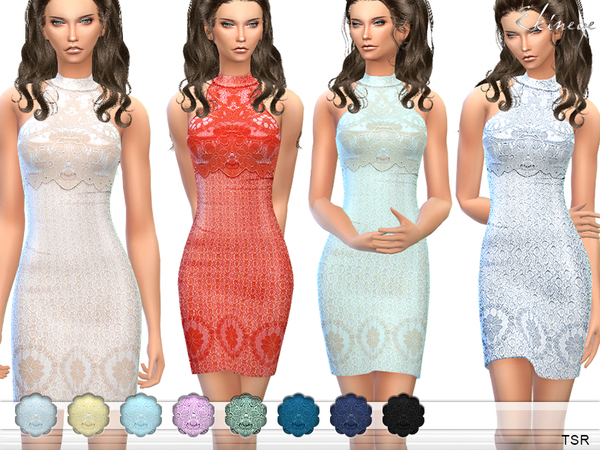 Lace Overlay Mini Dress by ekinege at TSR image 1130 Sims 4 Updates