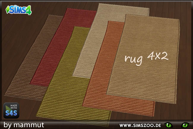 Sisal rugs 4x2 by Mammut at Blacky's Sims Zoo image 1133 Sims 4 Updates