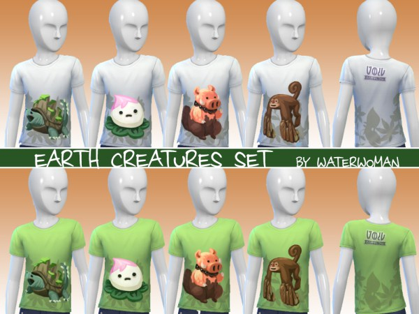 40 Void creatures T shirts for kids by Waterwoman at Akisima image 1138 Sims 4 Updates
