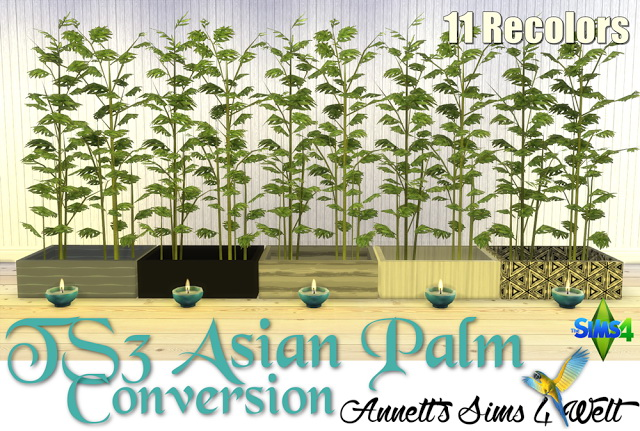 Sims 4 TS3 Asian Palm Conversion at Annett's Sims 4 Welt
