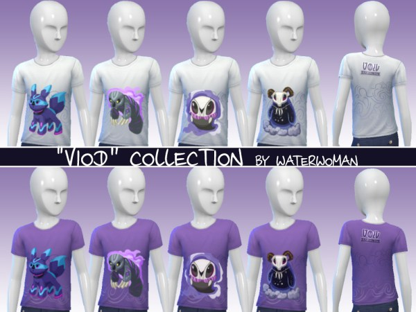 Sims 4 40 Void creatures T shirts for kids by Waterwoman at Akisima