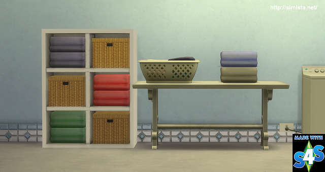 Sims 4 Laundry Deco Pack at Simista