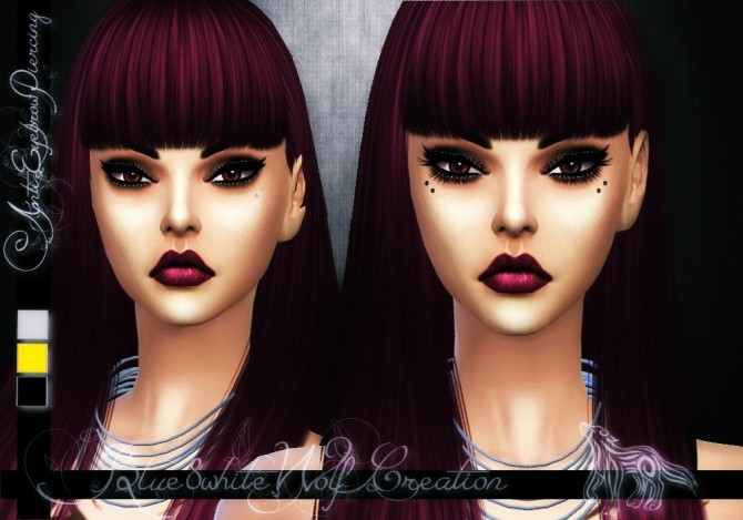 Sims 4 Anti Eyebrow Piercing Set by Blue8white at SimsWorkshop