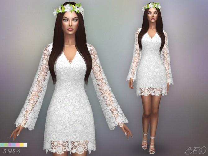 Sims 4 BOHEMIAN WEDDING DRESS at BEO Creations