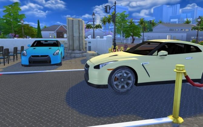 Sims 4 Nissan GT R at LorySims