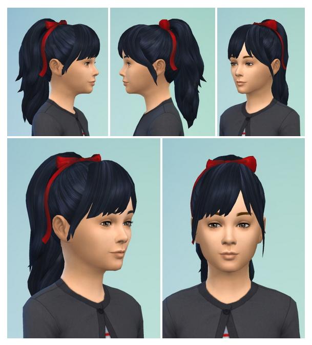 PonyBow & Bangs hair at Birksches Sims Blog image 1254 Sims 4 Updates