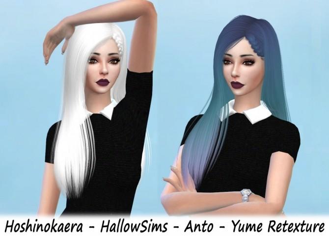 Sims 4 Hair retextures at Hoshinokaera