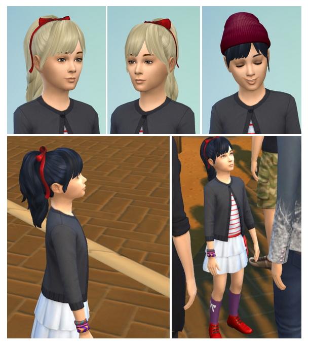 PonyBow & Bangs hair at Birksches Sims Blog image 1264 Sims 4 Updates