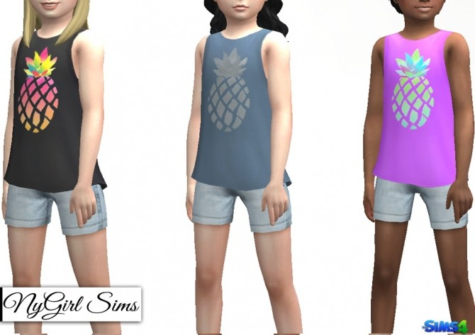 Sims 4 Pineapple Decal Standalone Tank at NyGirl Sims