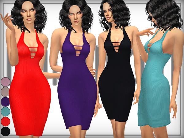 Ribbed Bodycon Dress by DarkNighTt at TSR image 1270 Sims 4 Updates