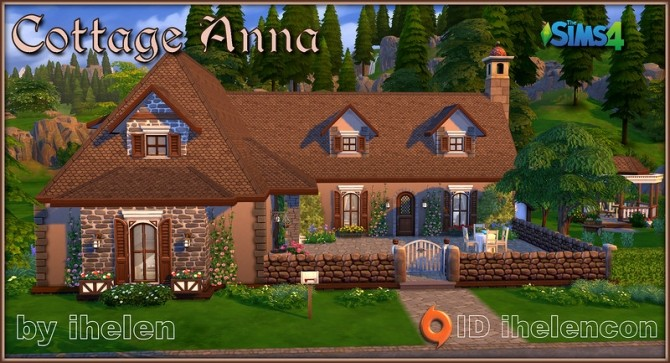 Cottage Anna by ihelen at ihelensims image 1282 670x363 Sims 4 Updates