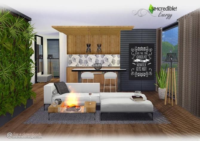 Energy Versatile Modern Livingroom At Simcredible