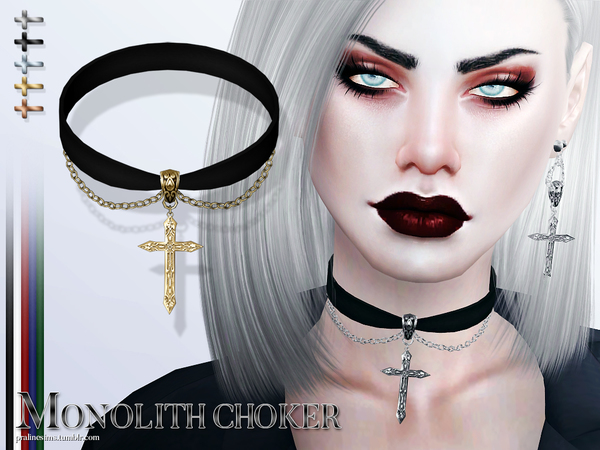 Male Gothic Necklace Like Dog Collar