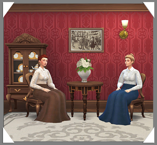 Edwardian Dress by Anni K at Historical Sims Life image 13211 Sims 4 Updates