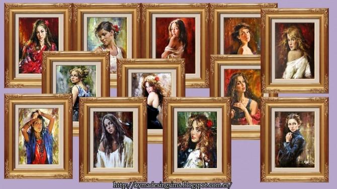 Captivating Woman Paintings 2 at Kyma Desingsims S4 image 13216 670x377 Sims 4 Updates