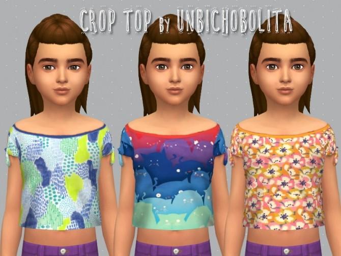 Sims 4 Crop top at Unbichobolita