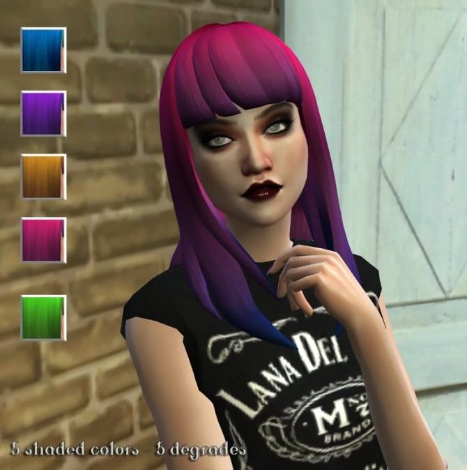 Sims 4 3 hair retextures by Delise at Sims Artists