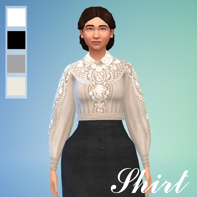 Sims 4 Edwardian Dress by Anni K at Historical Sims Life
