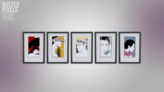 Patrick Nagel Large Framed Prints at Busted Pixels image 1365 670x377 Sims 4 Updates