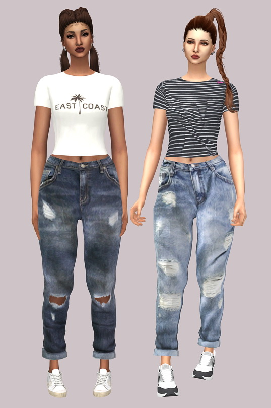 Sims 4 Tight Short Sleeve Top Recolor at Lumy Sims
