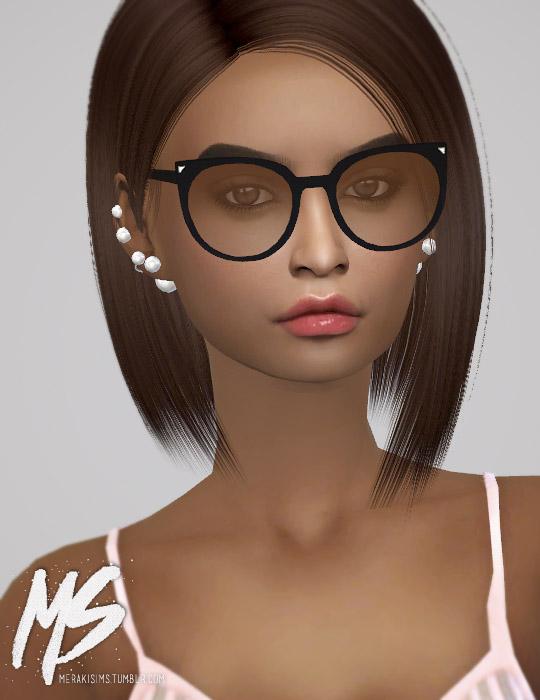 Sims 4 Cat eyes sunglasses at Merakisims