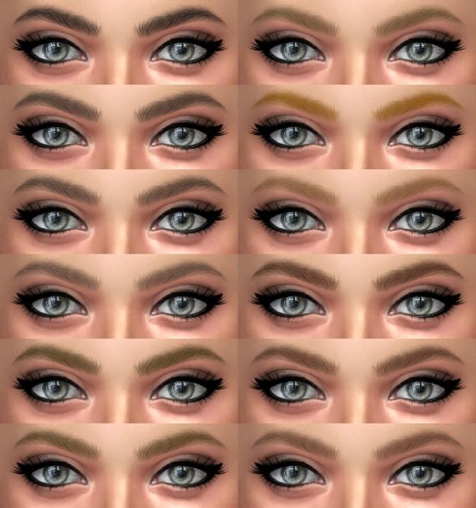 Sims 4 Eyebrows 13 & 14 HQ at Alf si
