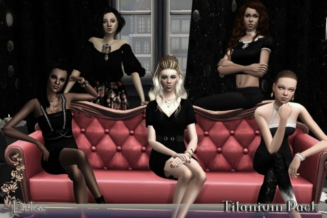 Titanium group poses by Delise at Sims Artists image 1391 670x447 Sims 4 Updates
