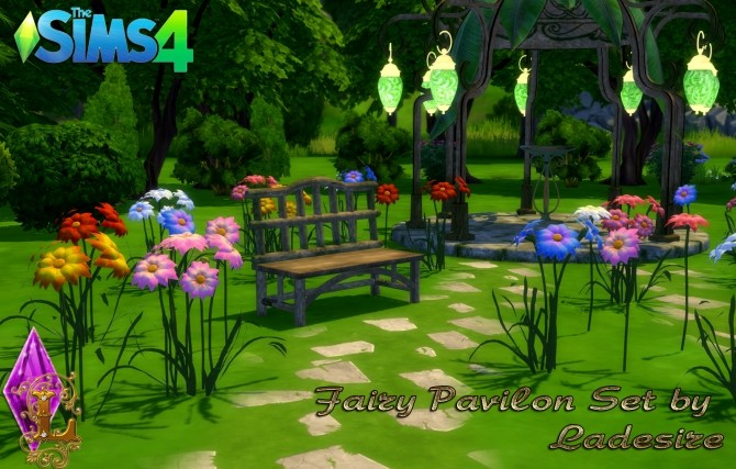 Fairy Pavilon Set at Ladesire image 13912 670x427 Sims 4 Updates