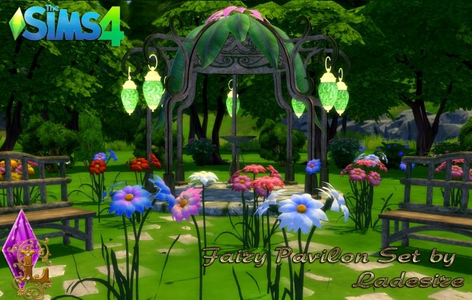 Fairy Pavilon Set at Ladesire image 14116 670x427 Sims 4 Updates