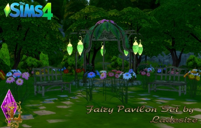 Fairy Pavilon Set at Ladesire image 14311 670x427 Sims 4 Updates