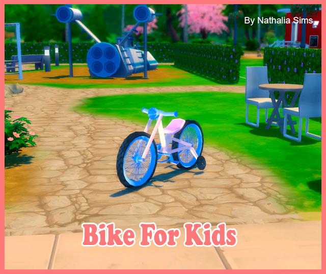 Sims 4 Fat Bike for Kids Conversion 2t4 at Nathalia Sims