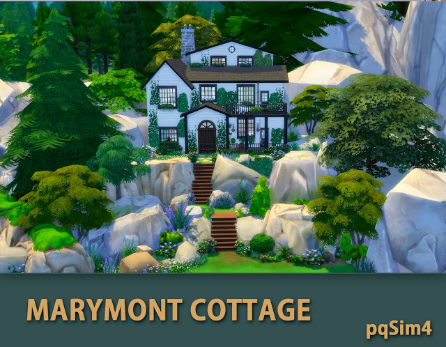 Marymont Cottage by Mary Jiménez at pqSims4 image 1481 Sims 4 Updates