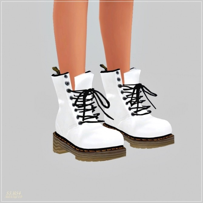 Female Combat Boots At Marigold » Sims 4 Updates