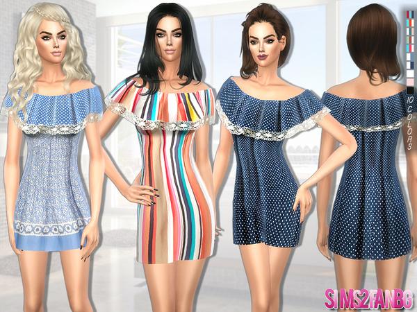 Sims 4 Summer dress by sims2fanbg at TSR