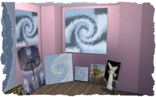 Sims 4 derMarcel paintings by Chalipo at All 4 Sims