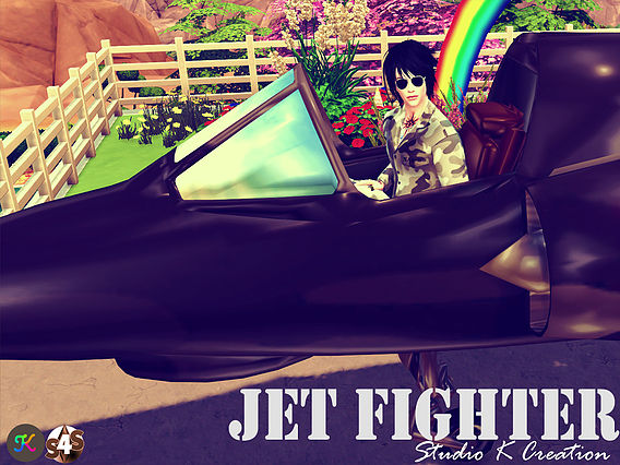 Sims 4 Jet Fighter (Chair deco) at Studio K Creation