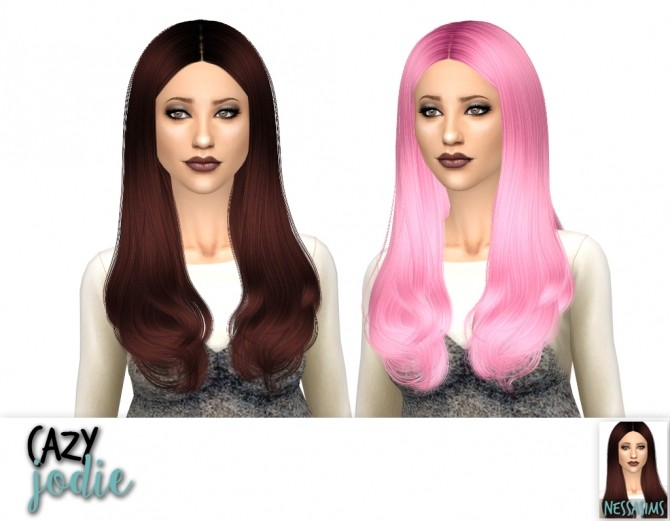 Sims 4 Cazy jodie, miller and roulette hair recolors at Nessa Sims