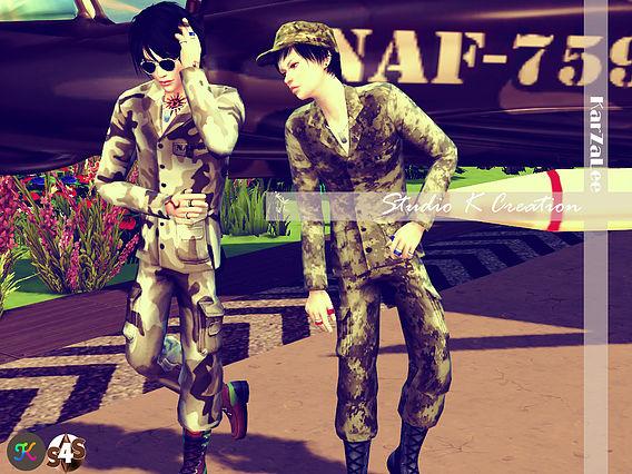 Sims 4 Soldier uniform set at Studio K Creation