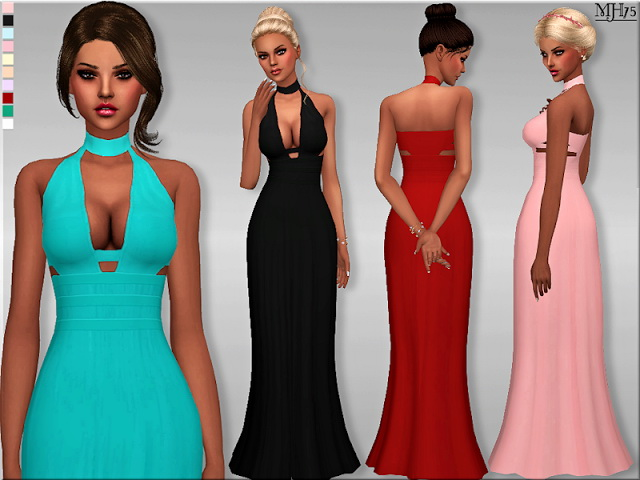 Sims 4 Libertine Gown by Margeh75 at Sims Addictions