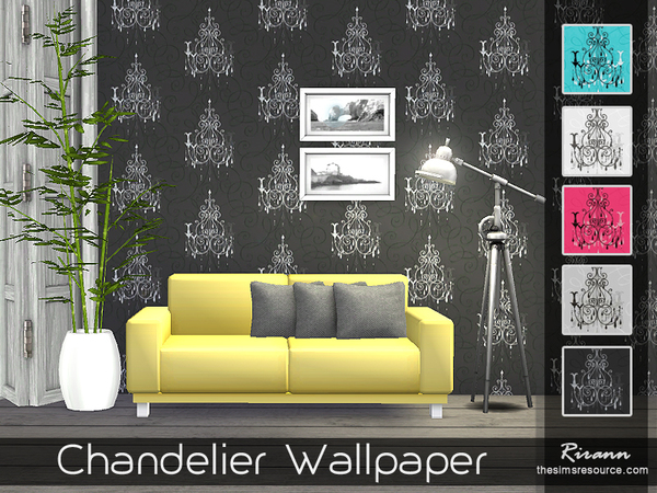 Chandelier Wallpaper by Rirann at TSR image 1620 Sims 4 Updates