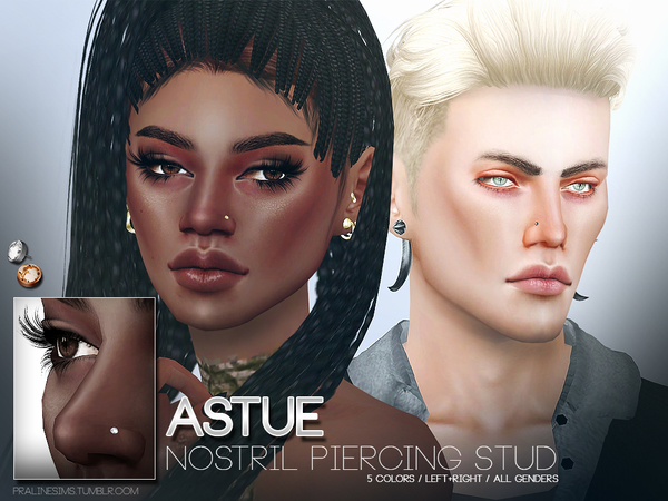 Astue Nostril Piercing Studs by Pralinesims at TSR image 1626 Sims 4 Updates