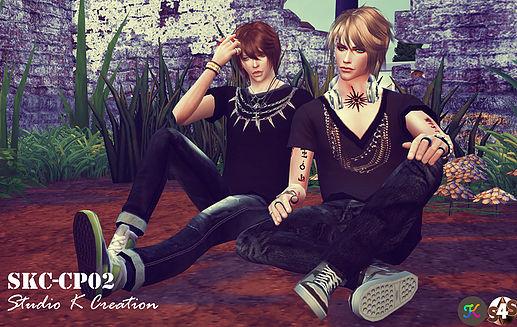 Sims 4 POSE  SKC Couple Pose Set CP02 at Studio K Creation