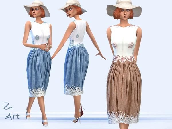 Sims 4 Freshness dress by Zuckerschnute20 at TSR