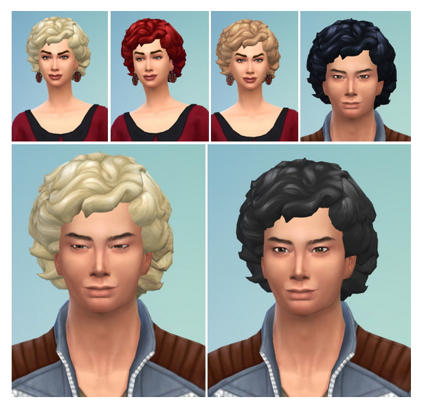 Sims 4 Big Curls Hair at Birksches Sims Blog