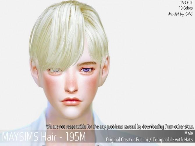 Sims 4 Hair 195M (Pucchi) at May Sims