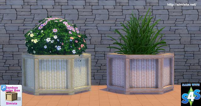 Sims 4 Large Bamboo Planter Box at Simista