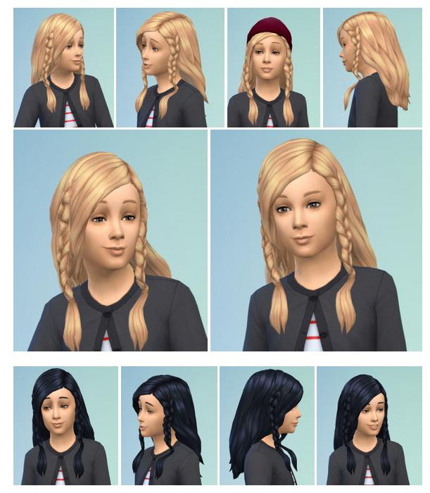 Sims 4 Twin Braids at Birksches Sims Blog