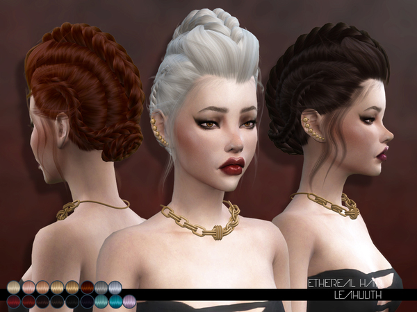 Sims 4 Ethereal Hair by Leah Lillith at TSR