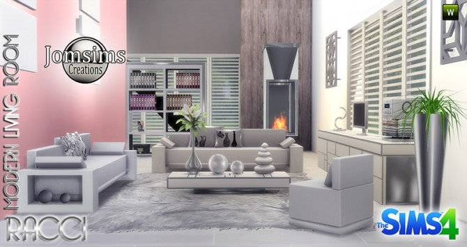 RACCI livingroom at Jomsims Creations image 1724 670x355 Sims 4 Updates