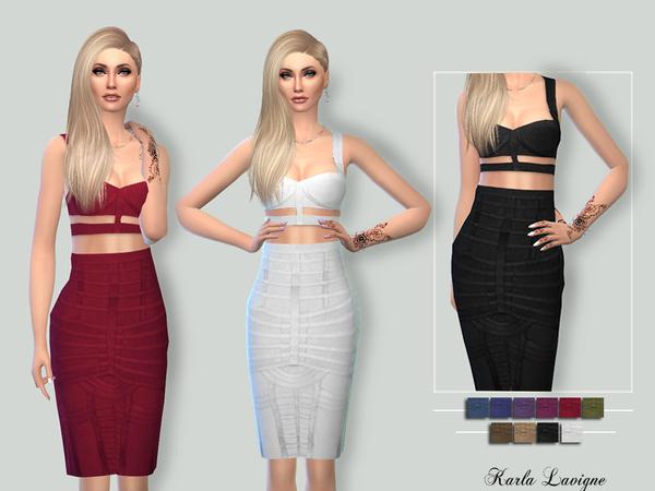 Sims 4 Ella Dress by Karla Lavigne at TSR